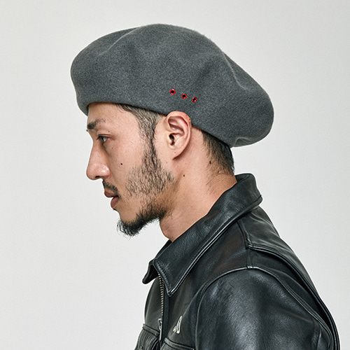 [밀리어네어햇]OVER SIZE BERET [GRAY]