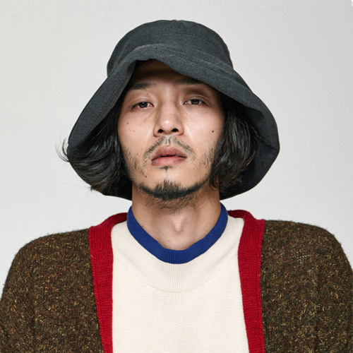 [밀리어네어햇]HIDE YOUR FACE OVER BUCKET HAT [GRAY]