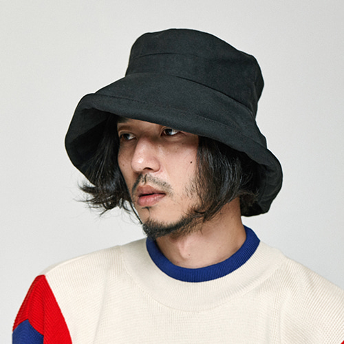 [밀리어네어햇]HIDE YOUR FACE OVER BUCKET HAT [BLACK]