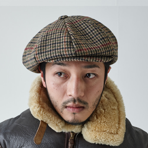 [밀리어네어햇]BIG APPLE [2WAY] - CLASSIC CHECK NEWSBOY CAP - HOUNDS TOOTH BEIGE