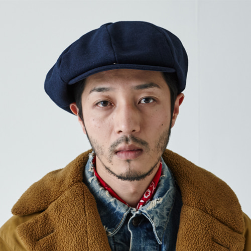 [밀리어네어햇]BIG APPLE [2WAY] - BASIC COLOR NEWSBOY CAP - BLUE