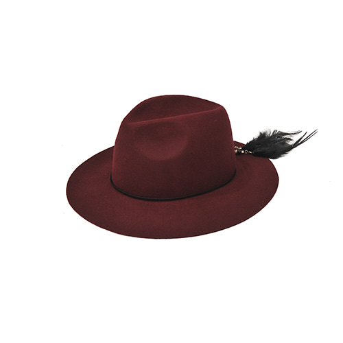 [밀리어네어햇]2way custom wool fedora [WINE]