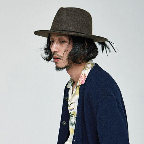 [밀리어네어햇]2way custom wool fedora [KHAKI]