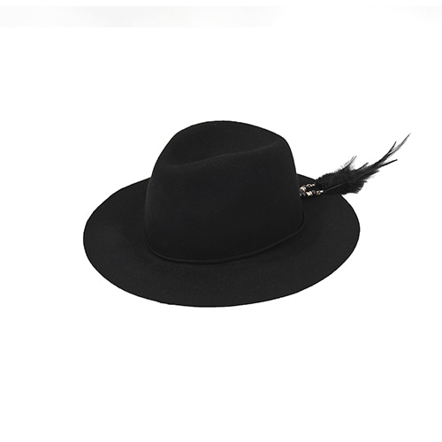 [밀리어네어햇]2way custom wool fedora [BLACK]