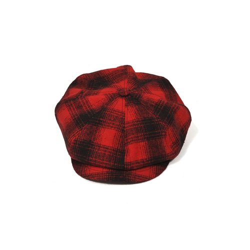[밀리어네어햇](tartan check) newsboy cap [RED]