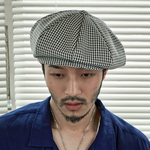 [밀리어네어햇](Rayon gingham check 3pack)- CLASSIC BIG APPLE HAT