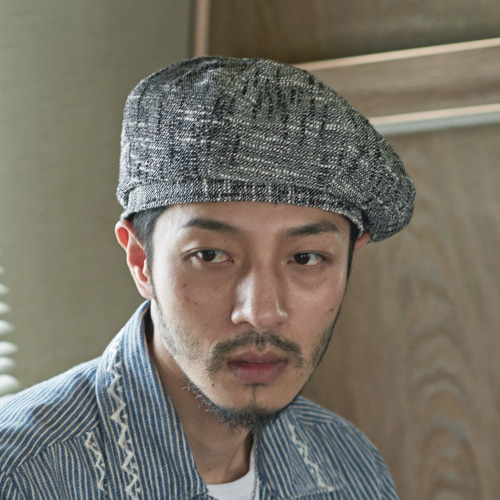 [밀리어네어햇](Linen) octangle beret - WHITE BLA
