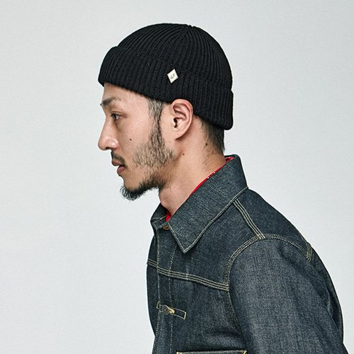 [밀리어네어햇](cotton) watch cap [BLACK]