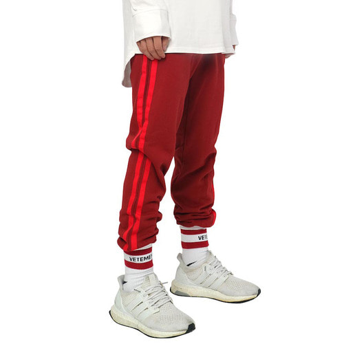 [데드엔드]BURGUNDY RED JOG PANTS