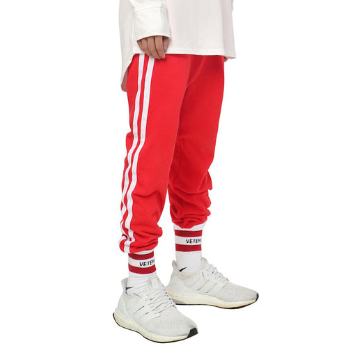 [데드엔드]RED WHITE JOG PANTS