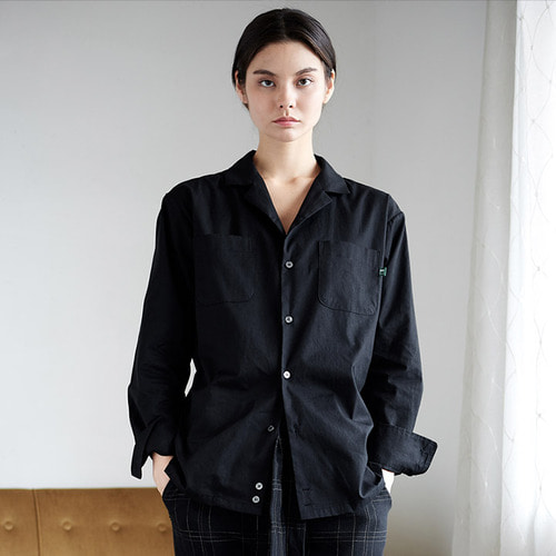 [프레리]OXFORD TAILORED-COLLAR SHIRT(Black)