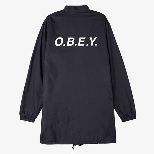 [오베이]O. B. E .Y. MOCK NECK TRENCH BLACK