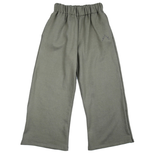[아조바이아조]  Wide Jersey Pants (Khaki)
