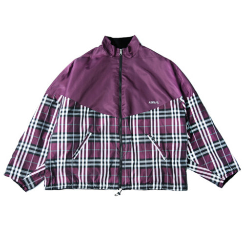 [아조바이아조]Reversible Check Jumper (Purple)