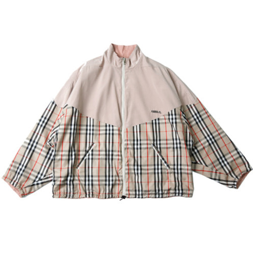 [아조바이아조]Reversible Check Jumper (Beige)