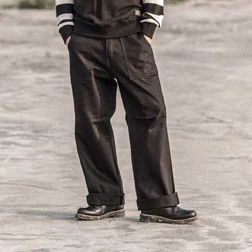 [콘보이] CONVOY 17FW Cotton Fatigue Pants Black