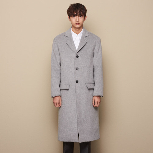 [STU] 3BUTTON SINGLE COAT GRAY