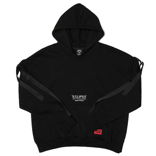 [네스티팜]WIDE TURNS HOODIE BLACK