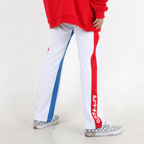[윅스눕]Side Logo TrackPants – White