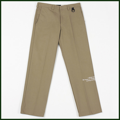 [노메뉴얼]work pants 378 BEIGE