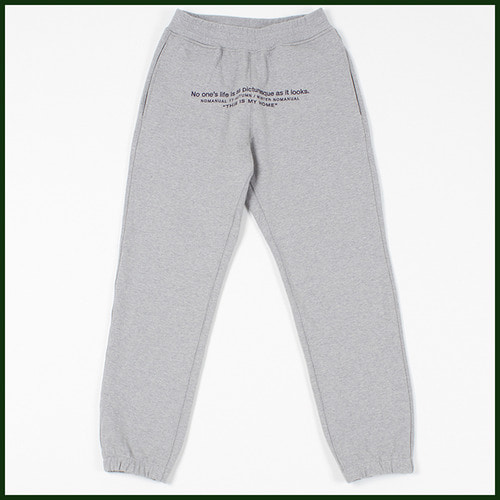 [노메뉴얼]heavy embroider sweat pants GREY