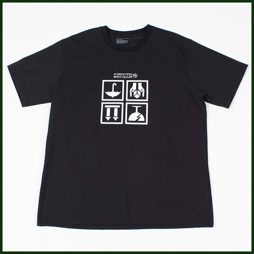 [노메뉴얼]fragile t-shirt BLACK