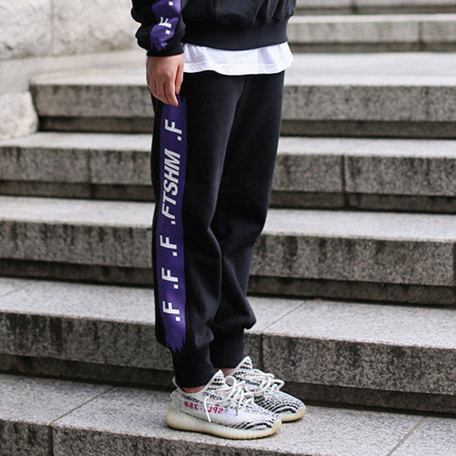[패티즘]FTSHM UNBALANCE SWEAT PANTS BLACK/PURPLE