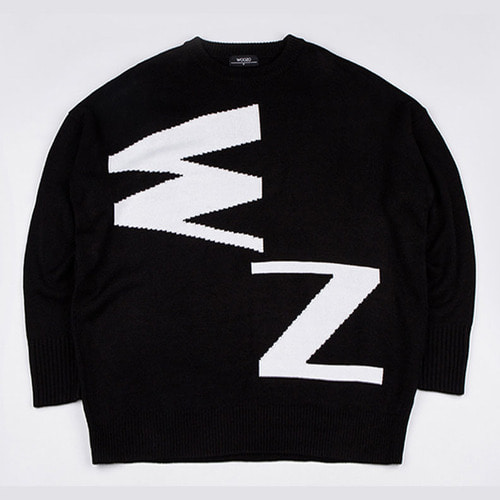 [2월19일 예약발송][우조]Woozo Abbreviation Full Knit Black/White( Free )