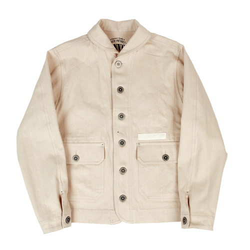 [콘보이]CONVOY Twill Herringbone Cotton Jacket Beige