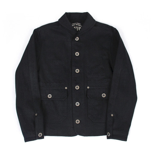[콘보이]CONVOY Twill Herringbone Cotton Jacket Black