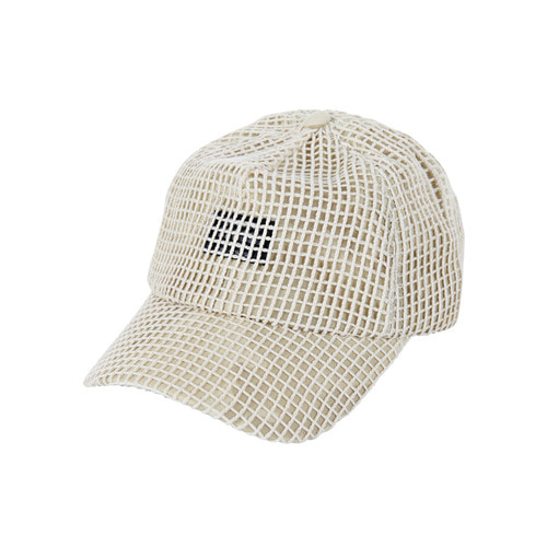 [바잘] Mesh cover point ballcap beige