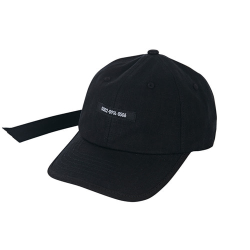 [바잘] Double adjuster point ballcap black