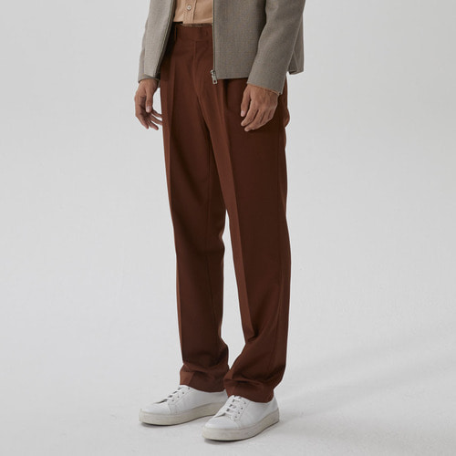 [모노소잉]COLOR WIDE TROUSER(DEEP BROWN)