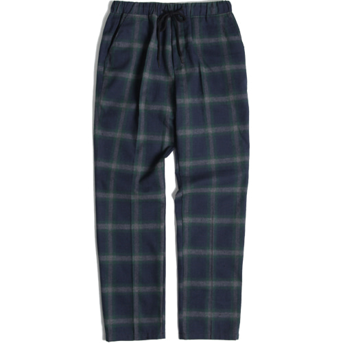 [모디파이드]M#1424 green check banding slacks