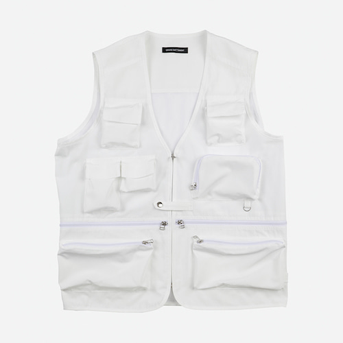 [그랑바트망]BACKSTAGE UTILITY vest white