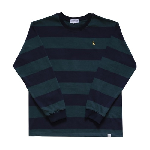 [아이즈 스케이트]I's Stripe L/S - Green/Navy
