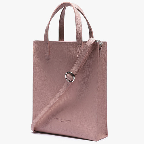 [피스메이커]SOFT LEATHER SQUARE SHOULDER&TOTE M (PINK)