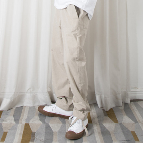 [뉴트럴] Straight wide linen pants