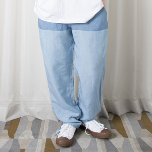 [뉴트럴] Straight patch work pants