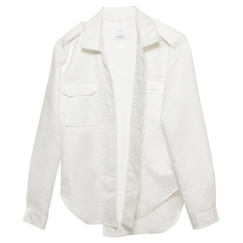 [뉴트럴] White suede jacket with zipper