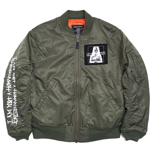 [아임낫어휴먼비잉][17W] Porno 6 Flight Jacket - Khaki
