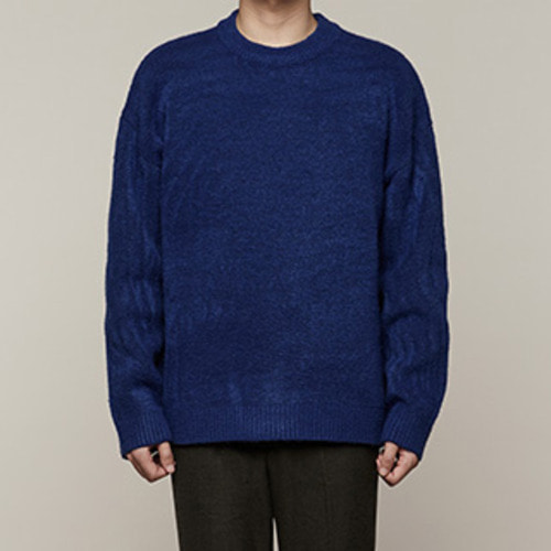 [오엑스스튜디오]Feeling Cozy Knit (Cobalt Blue)