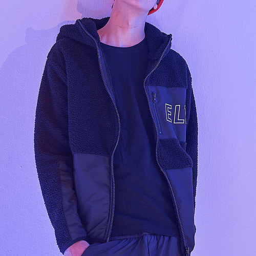 [엘리오티] Ellioti Fleece Zip-up_Black