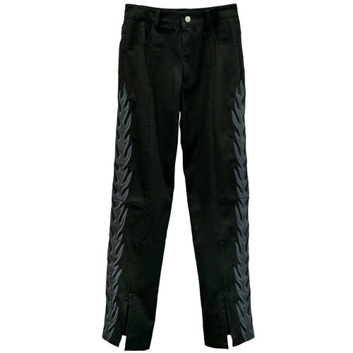 [엠피큐]MPQ FLAME PILLAR DIVIDED DENIM [BLK]