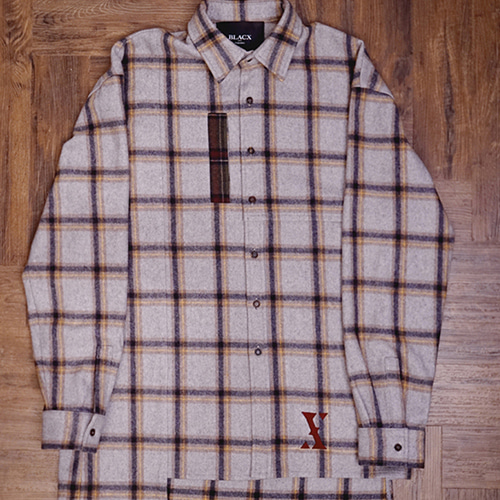 [블락스 요하닉스]AWARE CHECK WOOL SHIRT