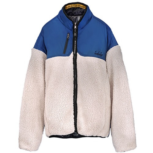 [엠피큐]MPQ SIGNATURE REVERSIBLE_FUR JUMPER (BLUE/IVORY)