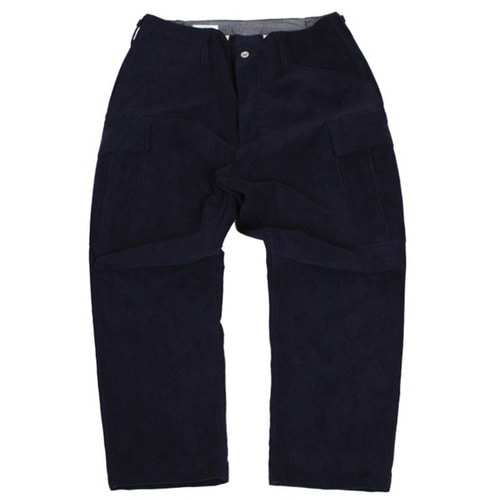[스웰맙]corduroy M-51 cropped pants -navy-
