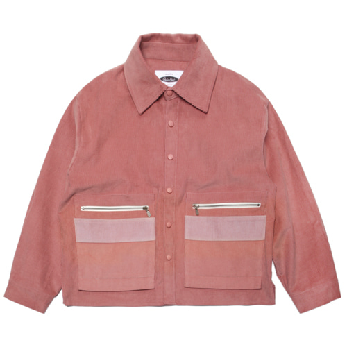 [콰이어티스트]Layered Pocket 11's Corduroy Jacket PINK