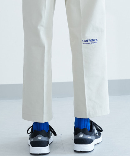 [스텝온리]남녀공용 PERSONNEL TWILL PANTS (BEIGE)