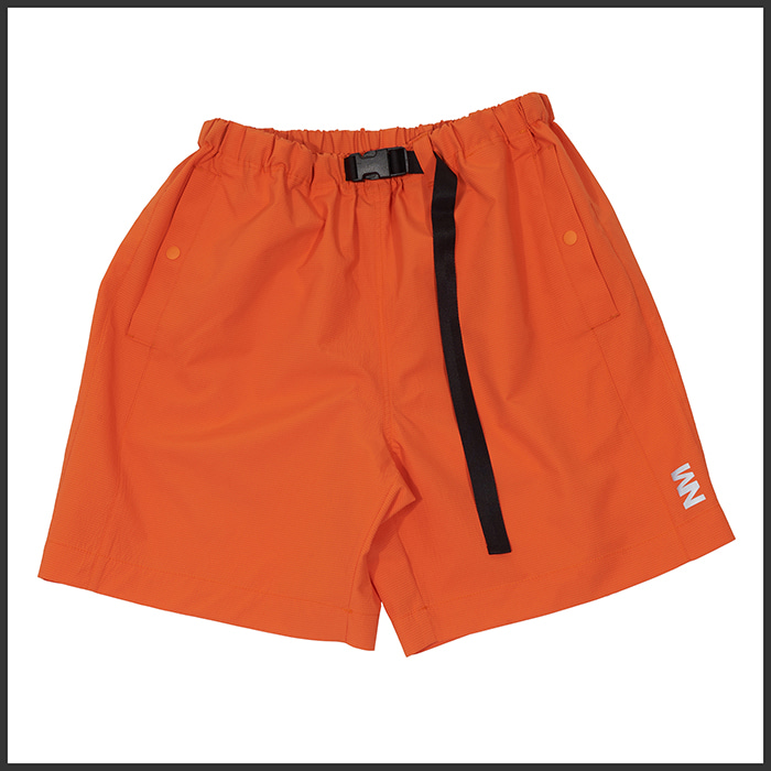 [노매뉴얼]REFLECTIVE NM LOGO SHORTS - ORANGE